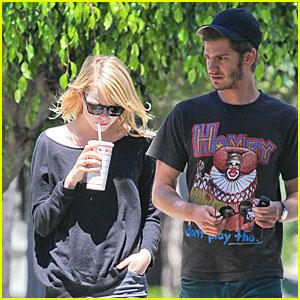 Emma Stone & Andrew Garfield: Books &  Burgers!