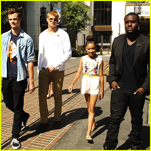 Amandla Stenberg: At The Grove with Alexander, Jack and Dayo!