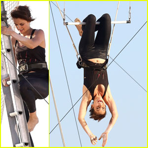 Jessica Stroup: Trapeze Flyer For '90210'