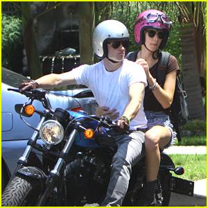 Josh Hutcherson: Motorcycle Movie Date with Lanchen Mihalic