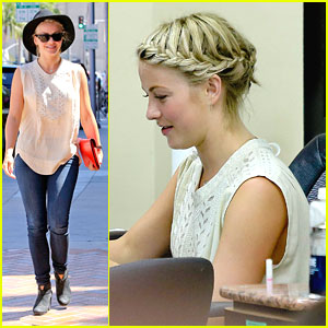 Julianne Hough Braids It Up