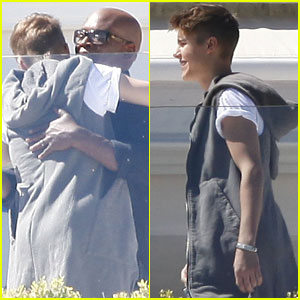 Justin Bieber Meets Up with L.A. Reid