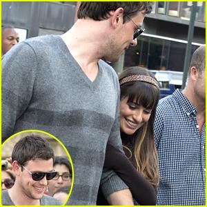 Lea Michele & Cory Monteith: 'Glee' Set Sweeties