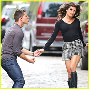 Lea Michele & Dean Geyer: 'Glee' In NYC