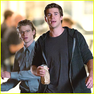 Liam Hemsworth & Lucas Till: 'Paranoia' Night Shoots