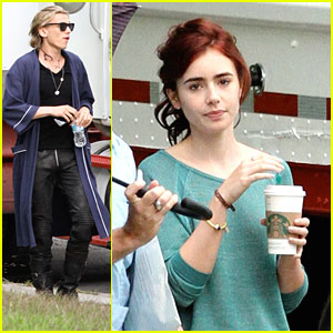 Lily Collins & Jamie Campbell Bower: 'Mortal Instruments' Set