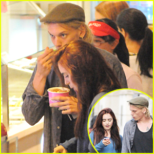 Lily Collins & Jamie Campbell Bower: Yoco Froyo!