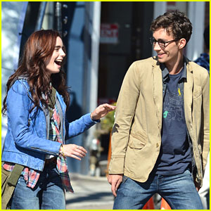 Lily Collins: 'Mortal Instruments' Laughs with Robert Sheehan