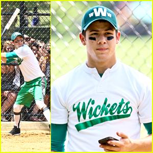 Nick Jonas: Wickets Softball Playoffs in NYC