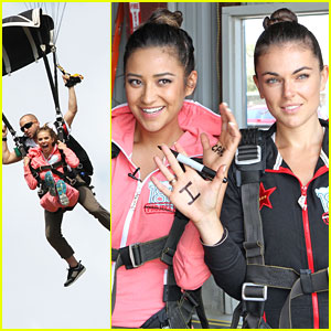 Shay Mitchell & AnnaLynne McCord Sky Dive for Charity