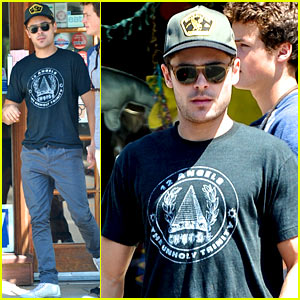 Zac Efron: Lunch with Brother Dylan!