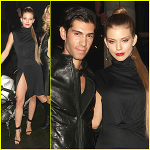 AnnaLynne McCord: High Slit Dress at Lloyd Klein Spring Collection Preview
