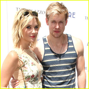 Ashley Benson: Azure Pool Party with Chord Overstreet