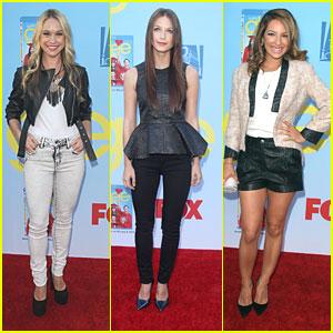Melissa Benoist & Becca Tobin: 'Glee' Premiere Girls