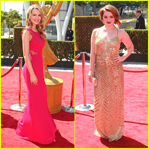 Bridgit Mendler &#038; Jennifer Stone: Creative Arts Emmys 2012