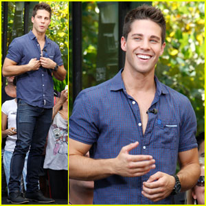 Dean Geyer Talks 'Glee' at The Grove!