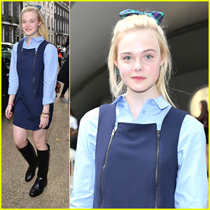Elle Fanning: Front Row at TopShop Unique for London Fashion Week