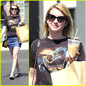 Emma Roberts: Fred Segal Stop
