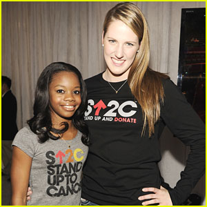 Missy Franklin & Gabby Douglas Stand Up 2 Cancer
