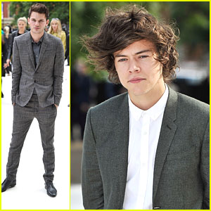Harry Styles & Jeremy Irvine: Burberry Fashion Show Studs