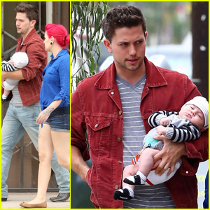 Jackson Rathbone: West Hollywood Stroll with Baby Roe!