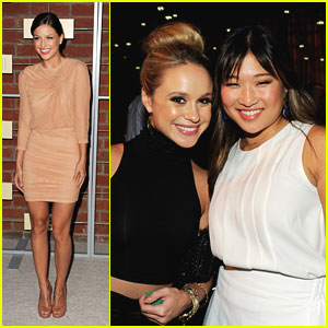 Jenna Ushkowitz: Fox's Eco-Casino Party with Becca Tobin & Melissa Benoist