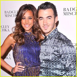 Danielle Jonas: Badgley Mischka at NYFW with Kevin
