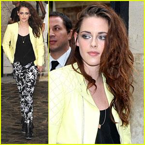 Kristen Stewart: Balenciaga Show at Paris Fashion Week