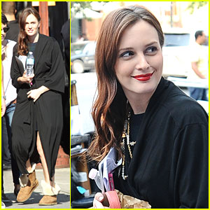 Leighton Meester: 'Gossip' Set Smiles