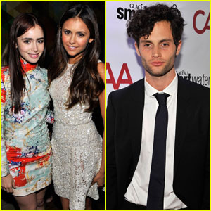 Nina Dobrev & Lily Collins: CAA Toronto Film Festival Party!