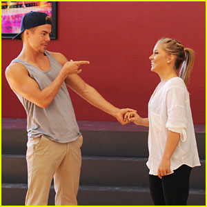 Shawn Johnson &#038; Derek Hough: Rehearsal Pics &#038; Video!