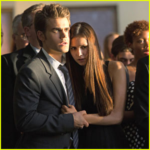 Nina Dobrev & Paul Wesley Attend a 'Memorial' on 'The Vampire Diaries'