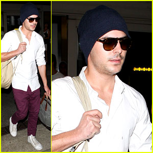Zac Efron: Home From Venice!