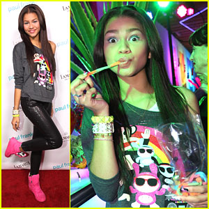 Zendaya: Fashion's Night Out with Paul Frank!