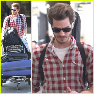 Andrew Garfield: Lots O' Luggage at LAX