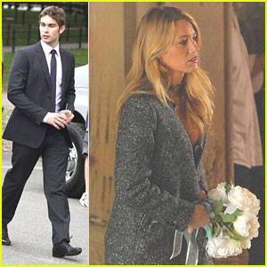 Blake Lively: Wedding Bouquet on 'Gossip Girl' Set