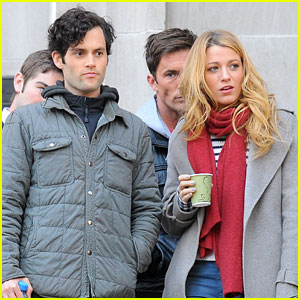 Blake Lively & Penn Badgley: 'Gossip Girl' Friday Fun!