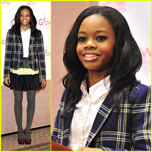 Gabby Douglas: iGlow in 'Pink Pearls & Pretty Dresses' Event