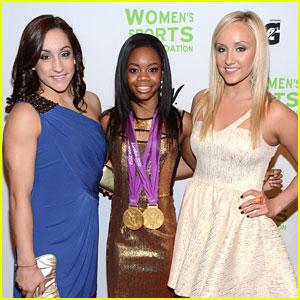 Gabby Douglas: Women in Sports Gala with Jordyn Wieber & Nastia Liukin