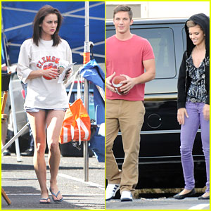 AnnaLynne McCord & Matt Lanter: Football Free Time on '90210' Set