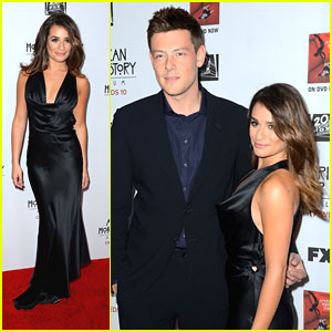 Lea Michele & Cory Monteith: American Horror Story Premiere with Chris Colfer