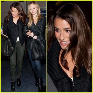 Lea Michele: Back in LA for 'Glee'!