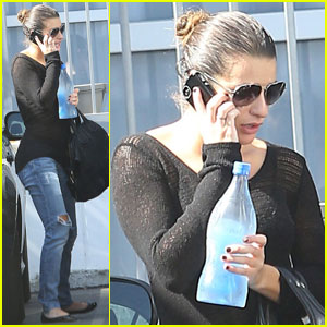 Lea Michele: First Recording Session For Solo Album!