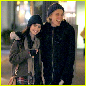 Lily Collins & Jamie Campbell Bower: Froyo Treat in Toronto