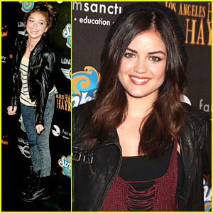 Lucy Hale & Sarah Hyland: Haunted Hayride in Hollywood