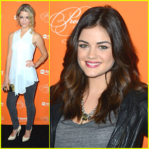 Lucy Hale & Sasha Pieterse: 'Pretty Little Liars' Halloween Screening!