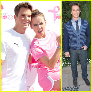 Matt Lanter: Puma Project Pink Soccer Game with Jessica Stroup