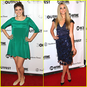 Sasha Pieterse &#038; Molly Tarlov: Outfest Legacy Awards 2012