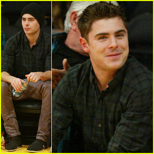 Zac Efron: Lakers Season Opener Game!