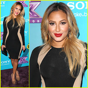 Adrienne Bailon: 'X Factor' Finalist Party!